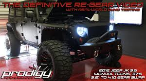 The Definitive Re Gear Video Jeep Wrangler 3 6 Pentastar 4 10 Ring Pinion Swap Dyno Results