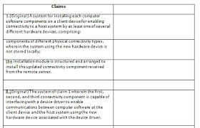 Patent Claim Chart Claim Charts