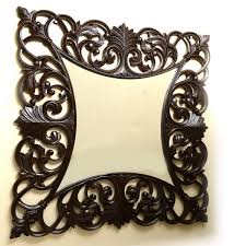 mirror frame. Square Jali Small Mirror Frame