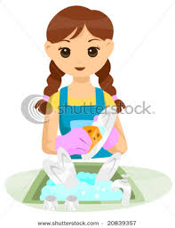 boy washing dishes clipart. Interesting Clipart Teenage Girl Washing Dishes With Boy Clipart