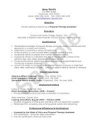 ... Physical Therapy Resume Examples 19 Pta Resume Physiotherapy Format Pta  Cv Cover Letter Occupational Student Therapist ...