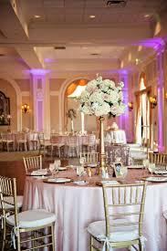 Tall White Hydrangea And Blush Pink Rose Centerpiece Flowers In