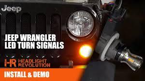 Jeep Tj Fog Light Bulb Replacement The Brightest Jeep Wrangler Jk Led Turn Signal Bulb Upgrade Kit Headlight Revolution