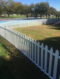 picket fence for hire r35 per meter white in colour wooden material
