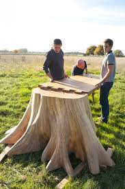 Tree stump furniture Wooden View In Gallery Amazoncom It Took Months To Uproot Tree Stump And Form The Square Root Table