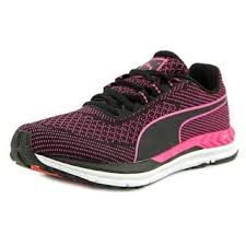 puma shoes pink and black. puma speed 600 s ignite women round toe synthetic black sneakers shoes pink and i