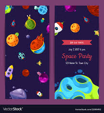 Space Party Invitation Party Invitation With Space Elements