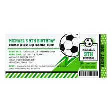 Soccer Party Invite Soccer Ticket Pass Birthday Party Invitation