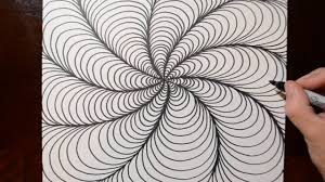 Pattern Drawing Custom How To Draw Optical Line Illusions Spiral Doodle Pattern 48 YouTube