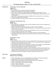 Instrument Technician Sample Resume Instrument Tech Resume Samples Velvet Jobs 15