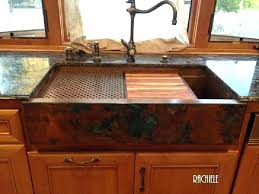 hammered copper farmhouse sink. Farmhouse Apron Sink Copper Sinks With Cutting Boards And Drain Grids Kitchen Hammered T