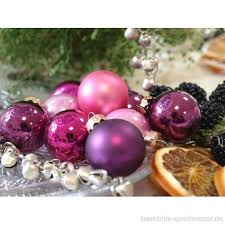 45 Kugeln Lila Violett Purpur Pink Christbaumschmuck
