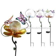 flower on stake garden lights