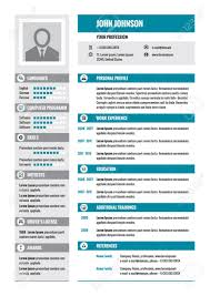 Resume Modern Format Resume Cv Vector Concept Layout In A4 Format Business Resume