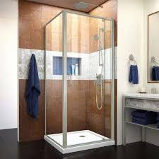 flex 32 in x 32 in x 74 75 in corner framed pivot shower