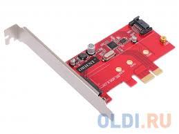<b>Контроллер ORIENT</b> A1061S-M2, <b>PCI</b>-<b>E</b> v2.0 SATA 3.0 6 Gb/s, 2int ...