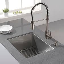 undermount kitchen sink stainless steel: kraus  inch undermount single bowl  gauge stainless steel kitchen sink with noisedefend soundproofing