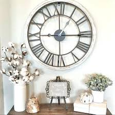 clocks marvelous farmhouse oversized rustic wall round white with silver metal clock large decorating tips and farmhouse wall clocks wood large