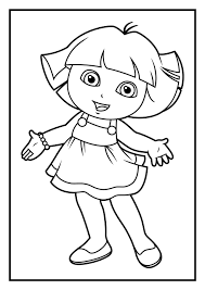 dora the explorer drawing 4 lovely of coloring pages pdf photos