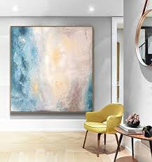 Office decor dining room Blue Image Unavailable Amazoncom Amazoncom Abstract Art Painting Original Art Office Decor Home