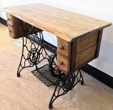 custom made singer treadle sewing machine desk