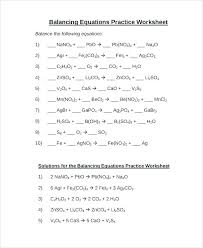 balancing equations worksheet and key 1 answer the following questions about chemical equation shown writing balanced
