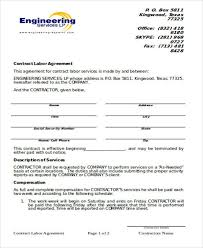 9 Simple Contract Agreements Sample Templates Contract