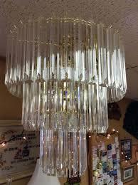 vintage lucite chandelier vintage mid century modern 3 tier wedding cake chandelier prisms contemporary chandeliers for