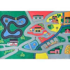 town life multi 3 ft x 5 ft kids play area rug