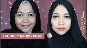 make up dan hijab pashmina simpel banget untu pemula