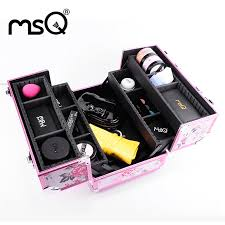 whole makeup brush conner acrylic kardashian organizer brand msq pink professional cosmetic case doulble open bination