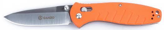 """<b>Нож</b> туристический """"Ganzo"""", цвет: оранжевый, стальной, длина ..."""