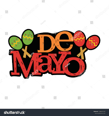 Mexican Style Graphic Design De Mayo Mexican Style Typography Design Stock Image