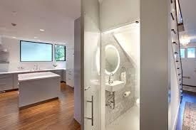 modern guest bathroom design. Modern White Magnifying Vanity Mirrors Guest Bathroom Designs  Contemporary Powder Room Modern Guest Bathroom Design