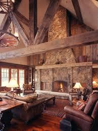 inspiration for a rustic living room remodel in denver