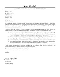 Operations Manager Cover Letter Free Cover Letter Of Interest Sample