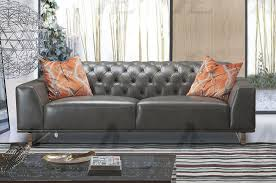 details about gray italian leather tufted sofa american eagle ek693 gr