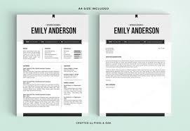 the emily is a fully editable microsoft word docx doc resume and cover letter template where are resume templates in word