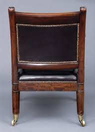 english antique period regency gany leather library armchair circa 1820
