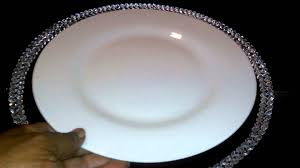 bling charger plate