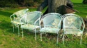 wrought iron vintage patio furniture. Vintage Woodard Patio Furniture New Mid Century 4 Expanded Metal Wrought Iron