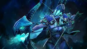 drow ranger archer bow and arrow precision aura frost arrows dota