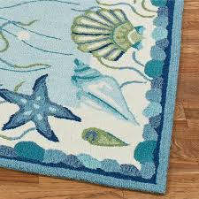 approved beach themed outdoor rugs ocean surprise coastal seashell area