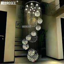 modern large pendant lights morn large crystal chanlier light fixture spiral for lobby staircase foyer large