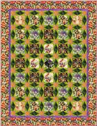 Glorious Garden Floral Quilt   Patterns, Patchwork and Craft & Glorious Garden Floral #Quilt #pattern by Lucy A. Fazely for FreeSpirit Adamdwight.com