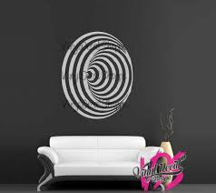 wall decal abstract wall decal modern wall decor worm hole wall decal vortex decal large wall decal large wall sticker teen room