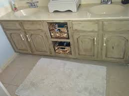 Distressed Bathroom Cabinet Bathroom Vanity Makeover With Annie Sloan Chalk Paint