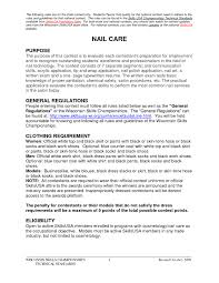 Nail Technician Resume Cover Letter Sample Bongdaao Com