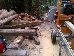 harbor freight sawmill. and the log deck stays clean, sawdust flying around is minimized, it easier to pick up at end of day because its all in one pile. harbor freight sawmill