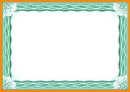 Formal Certificates Certificate Borders Templates Certificate Template Printable